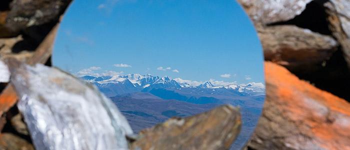 Вид на Южно-Чуйский хребет с Верхнего Обо