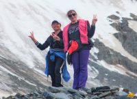туристы на леднике