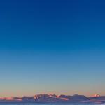Чуйская пустыня и синее небо