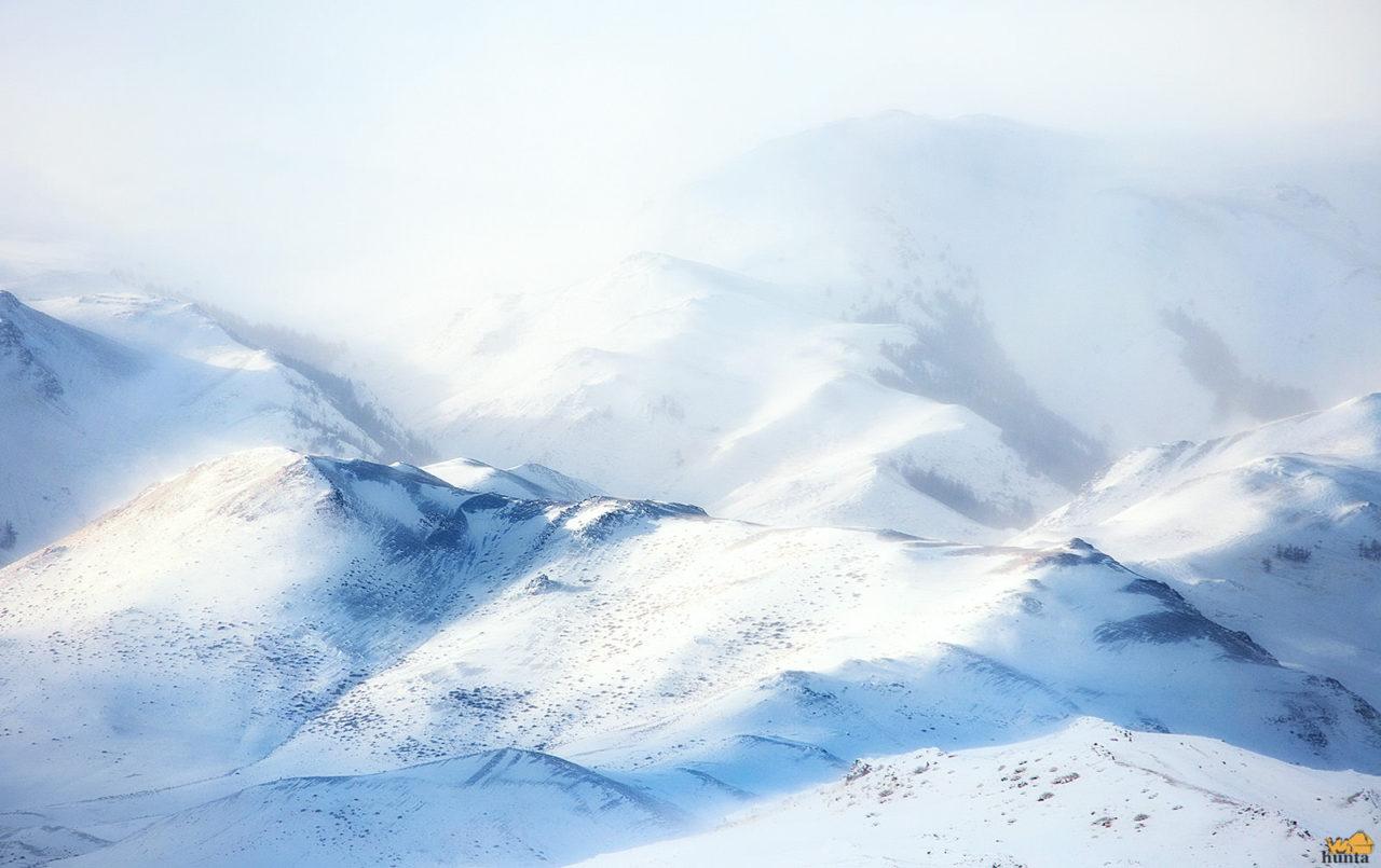 Курайский Хребет. Зима
