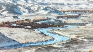 река Чуя зимой