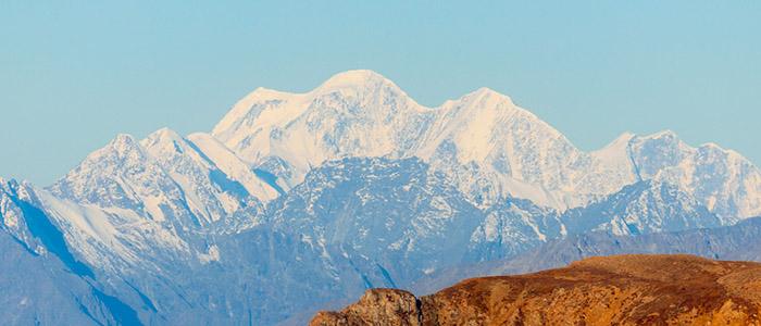 Гора Белуха с перевала Карагем